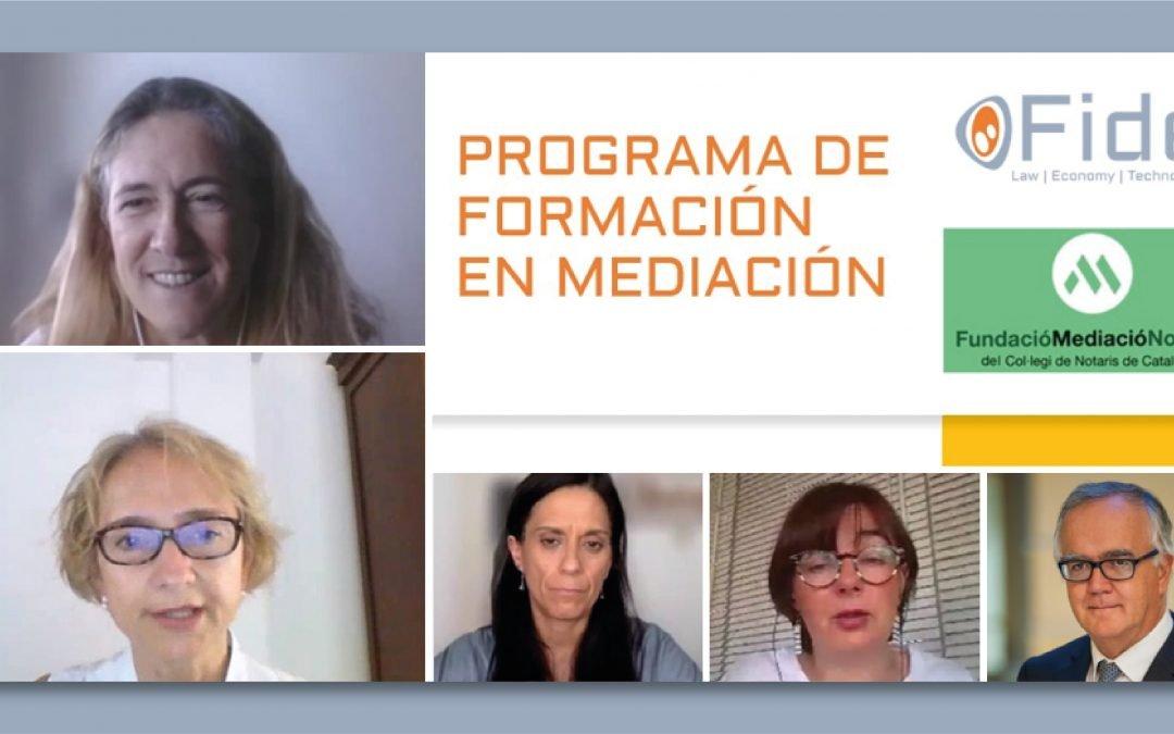 Concluye el programa de formación en mediación organizado por Fide y la Fundació Mediació Notarial del Colegio de Notarios de Cataluña