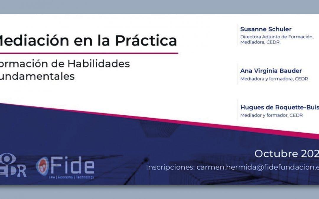 II Edición Mediación en la Práctica. Formación de Habilidades Fundamentales
